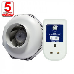Комплект вентилация (Can Fan 125L/350m3 + SMSCOM Fan Controller)