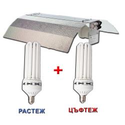 CFL - 120W 6500K+CFL - 120W 2700K+Stucco