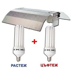 CFL 150W 6500K+CFL 150W 2700K Solux + Stucco - Комплект