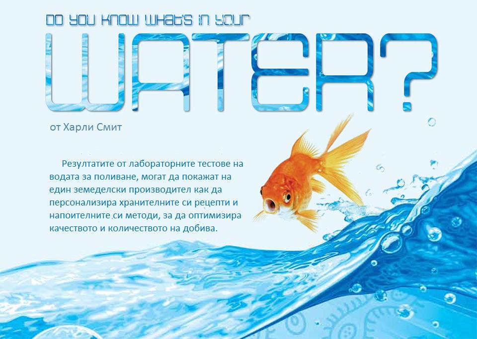 Знаете ли какво има във водата, с която поливате?